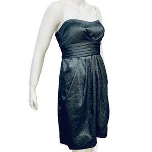 NIGHTWAY | Tafetta Metallic Strapless Formal Dress